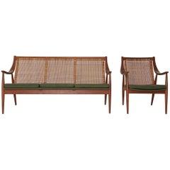 Peter Hvidt & Orla Mølgaard-Nielsen FD 146 Sofa and Chair, Denmark, 1950s