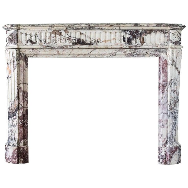 Louis XVI Style Breche Violette Fireplace
