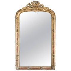 19th Century French Gilt Overmantel Mirror