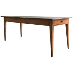 19th Century French Cherrywood Farmhouse Table