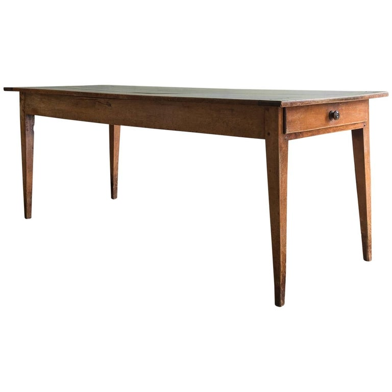 19th Century French Cherrywood Farmhouse Table