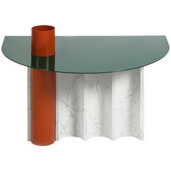 "Modern Coffee Table in Marble and Powder Coated Steel from ""Disused Collection"""