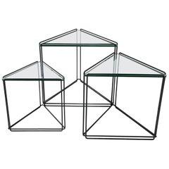 Max Sauze Set of Isosceles Triangle Nesting Tables