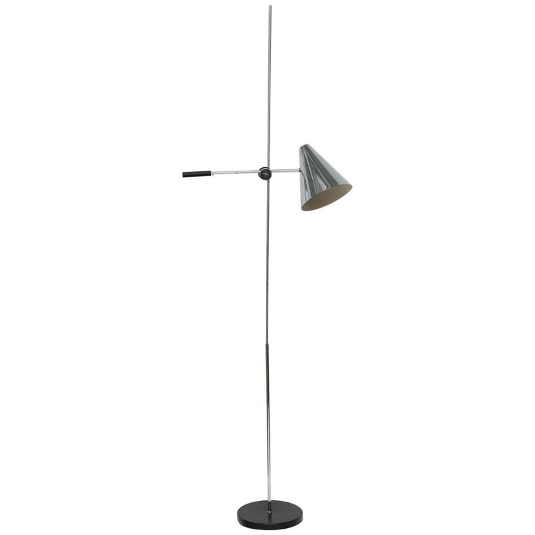 Articulating Chrome Floor Lamp by Robert Sonneman for Laurel