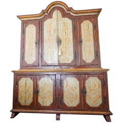 Late 18th Century Tyrolean Tall Cabinet