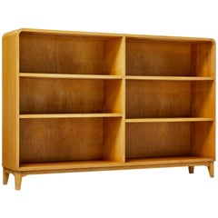 1950s Scandinavian Modern Birch Open Bookcase
