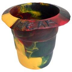 2000 Commemorative Gaetano Pesce Multicolored Resin Bucket