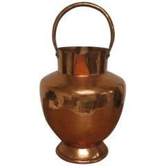 French Copper Hammered Milk Jug