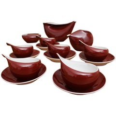INA Porcelain Coffee Set by Lubomir Tomaszewski for Ćmielów, 1962