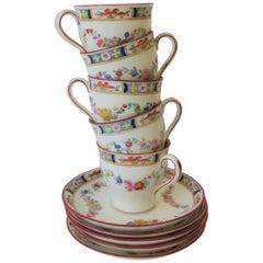 English Minton Porcelain Espresso or Demitasse Set