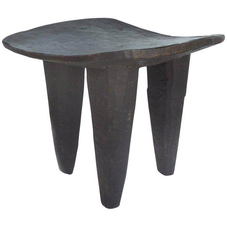 African Handcarved Senufo Stool from Cote d'Ivoire