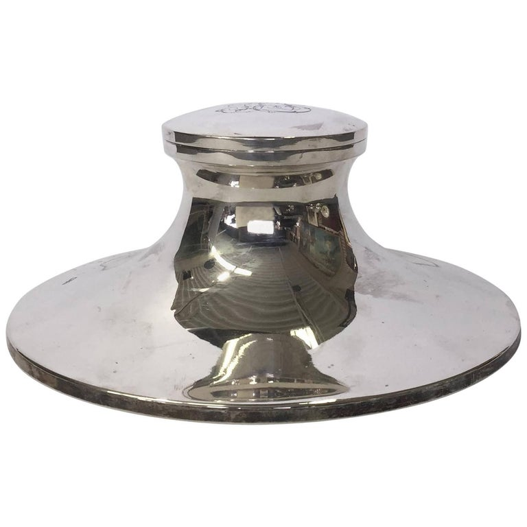 Sterling Silver Capstan Inkwell