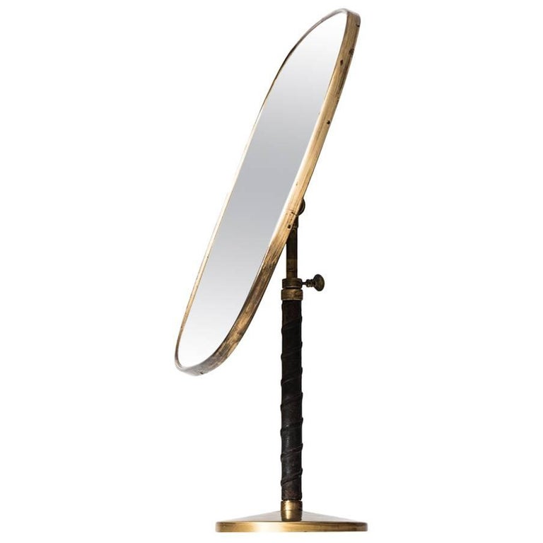 Height Adjustable Mirror Attributed to Josef Frank
