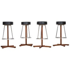 Set of Four bar stools by Dyrlund Smith in Denmark