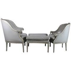 Louis XVI Style Three-Piece Chaise