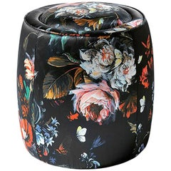 Roberto Cavalli Iconic Collection Limbo Round Pouf
