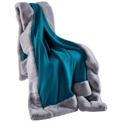 Cashmere and Rex Rabbit Throw