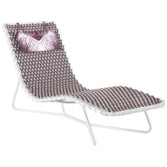 Roberto Cavalli Papeete Outdoor Chaise Lounge Chair in Purple