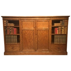 Fine Quality Figured Mahogany Victorian Period Open Bookcase