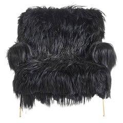 Roberto Cavalli Jungle Collection Fiji Armchair in Black