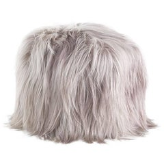 Roberto Cavalli Jungle Collection Limbo Octagonal Pouf in Beige