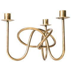 Josef Frank Candlestick in Brass by Svenskt Tenn in Sweden