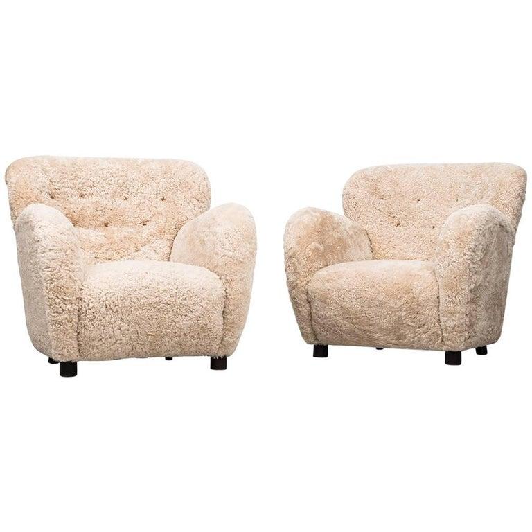 Flemming Lassen Easy Chairs by Cabinetmaker A.J Iversen in Denmark