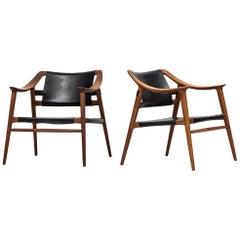 Rolf Rastad & Adolf Relling Easy Chairs Model Bambi by Gustav Bahus in Norway