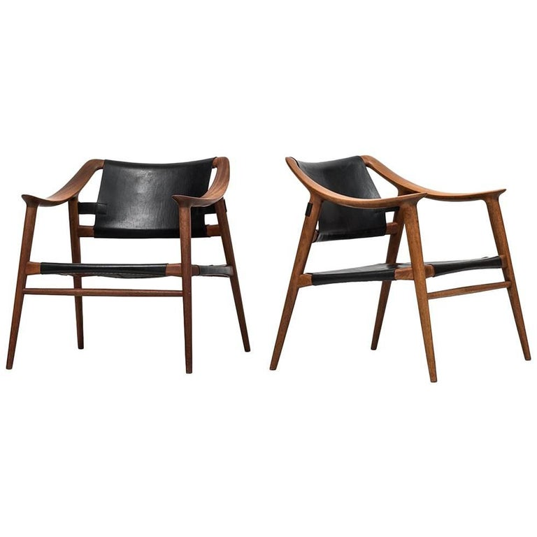 Rolf Rastad & Adolf Relling Easy Chairs Model Bambi by Gustav Bahus in Norway