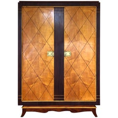 Remarkable Style of French Art Deco Armoire, 1940s
