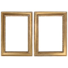 Arts & Crafts Newcomb-Macklin Matching Set Giltwood Art Frames Orig Labels