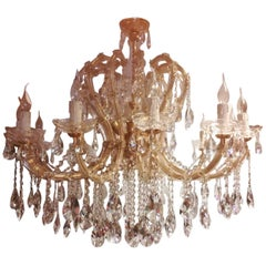 "Extra Large Maria Theresa Twenty-Light Chandelier (D. 44""), Italy, 1960s"