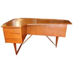 "1969 Teak ""Boomerang"" Desk by Peter Løvig Nielsen"