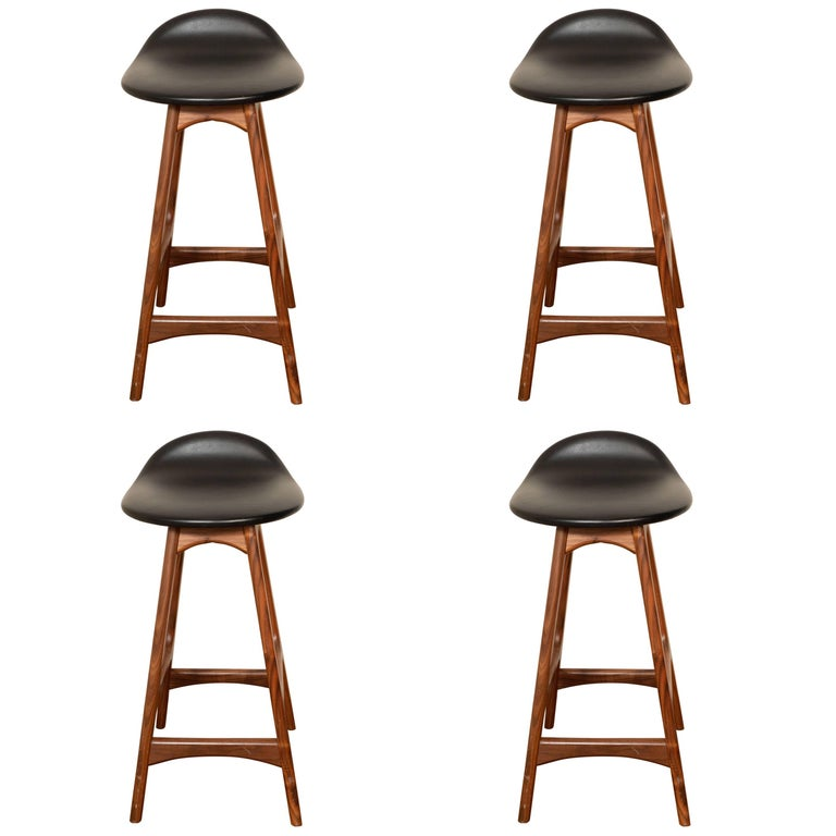 Set of Four OD61 Counter Stools by Erik Buch