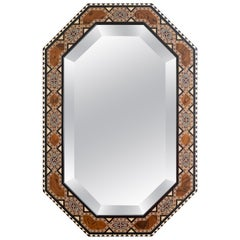21st Century Spanish Inlaid Marquetry 'Taracea' Mirror Inspired by the Alhambra