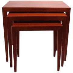 Set of Nesting Tables in Teak from Haslev Furniture Factory, 1960s