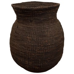 19th Century Woven African Honey Basket