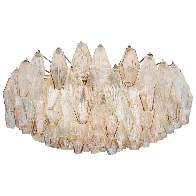 Vintage Venini Glass Chandelier For Sale