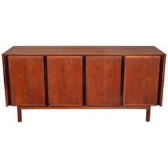 Midcentury Walnut Credenza Sideboard by Merton Gershun for Dillingham