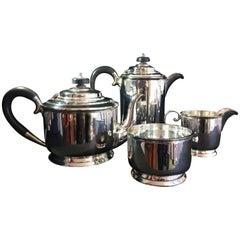 Silver Art Deco Tea Set