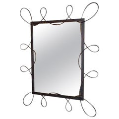 Scrolled Iron Mirror