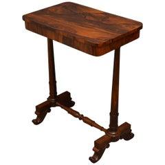 William IV Rosewood Lamp Table