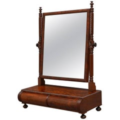Regency Flamed Mahogany Toilet Mirror