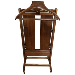 Vintage Gentleman's Mahogany Valet and Trouser Pant Stand Press Men's Servomuto