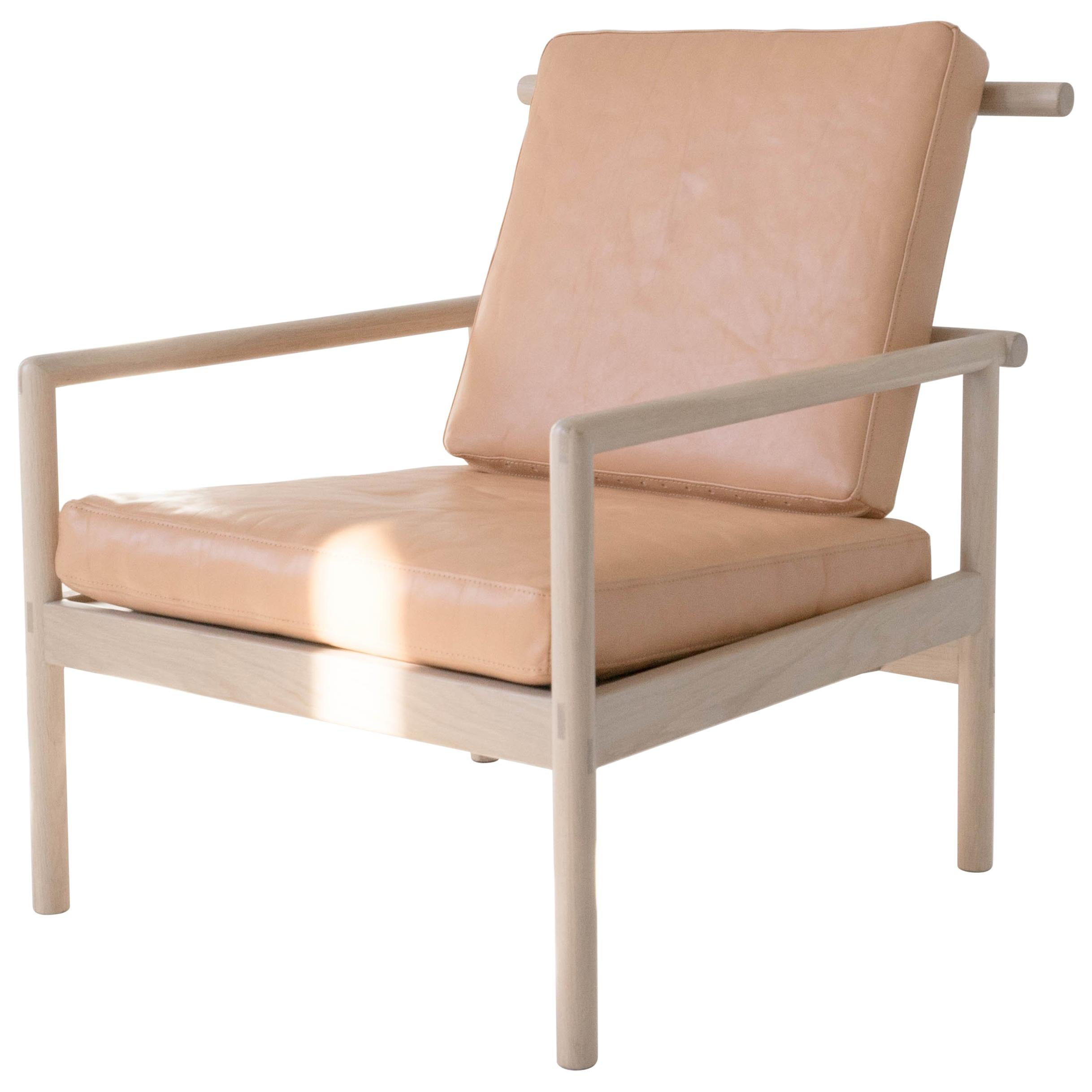Etonnant Ten Chair, Nude Minimalist / Midcentury Lounge Chair In Wood, Leather
