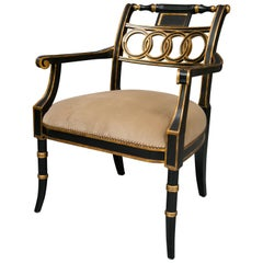 Regency Ebonized Style Side Chair