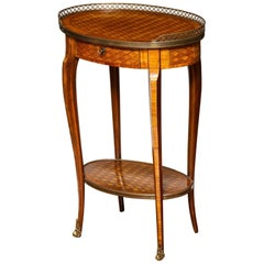 French Parquetry Occasional Table