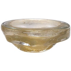 Small Gold Murano Glass Bowl, circa 1960