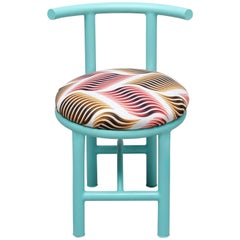 Dinner Chair Metal with Colorful Textile Contemporary Style