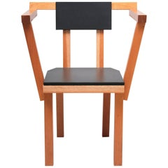 Contemporary Chair Madera Wood Black